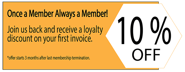 Image of an NGIN Workplace promotion: Once a member always a member 10% off