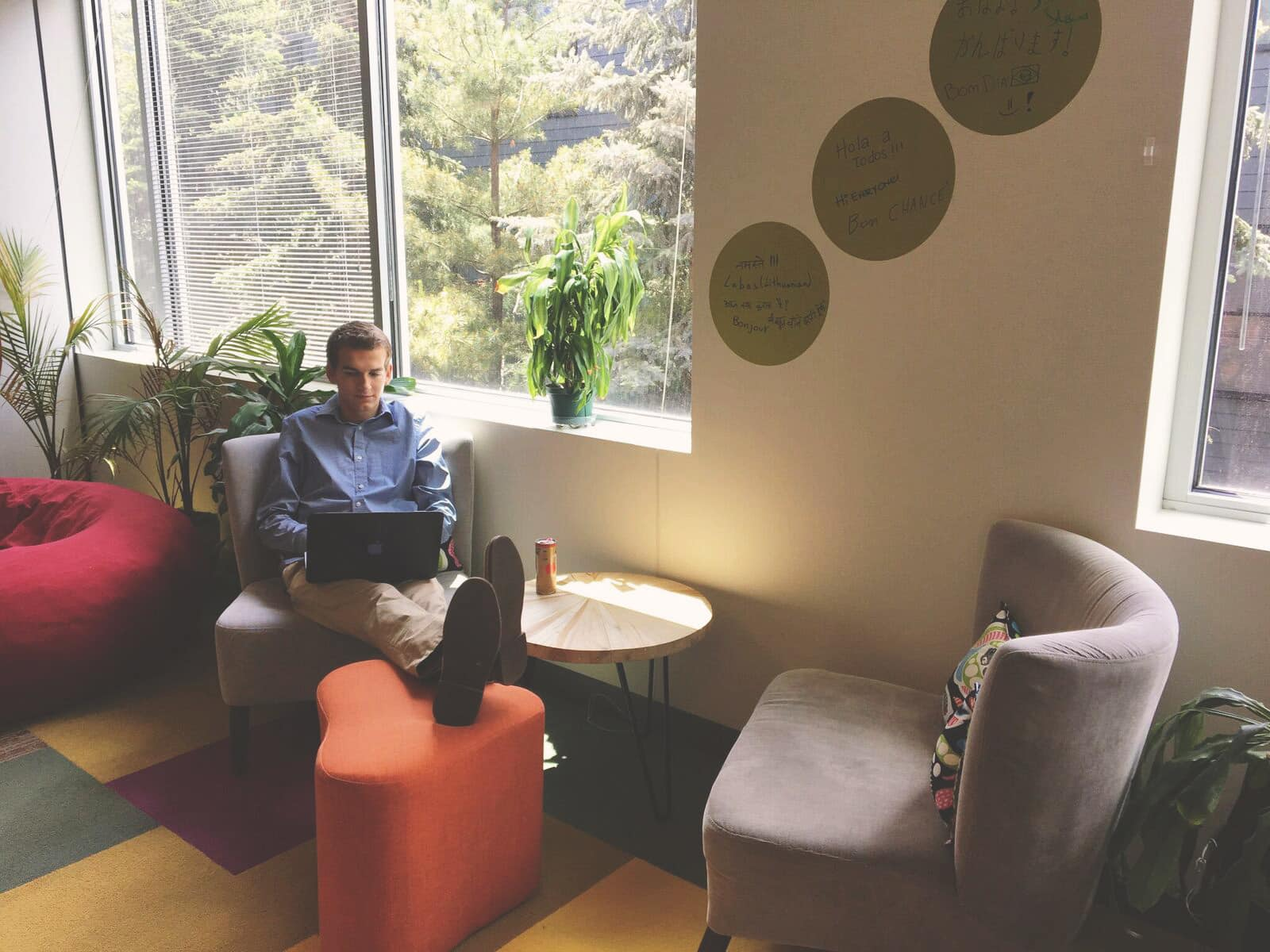 NGIN Workplace member enjoying the views and soaking up some sun in a relaxed atmosphere at NGIN Workplace